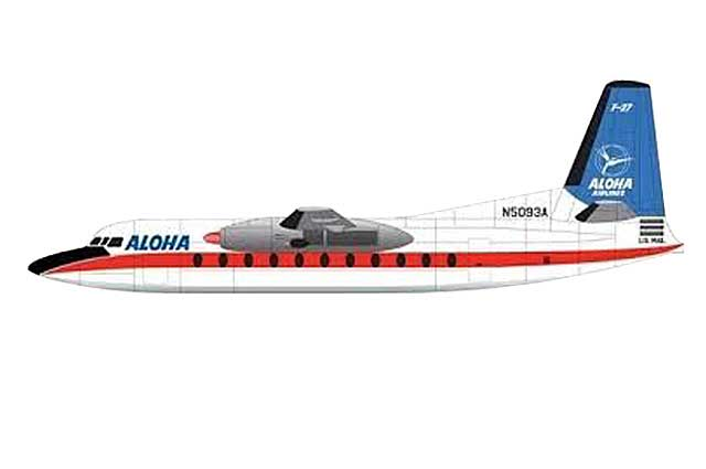 Aloha Airlines F-27 N5093A (1:400)