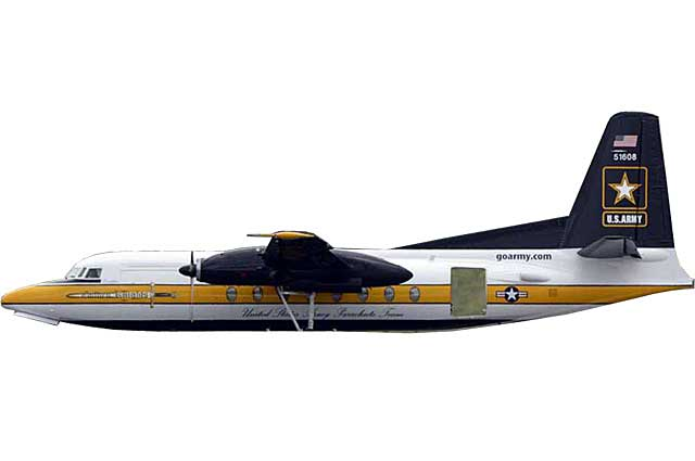 US Army F-27 Golden Knights  #51607 (1:400)