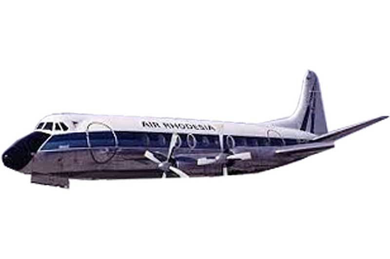 Air Zimbabwe Viscount 700 Z-YNL, AeroClassics Models Item Number AC19247