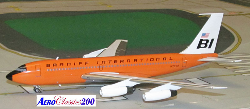 "Braniff International B720 N7079 ""Orange"" (1:200), Western Models Item Number AC2BNF1215A"