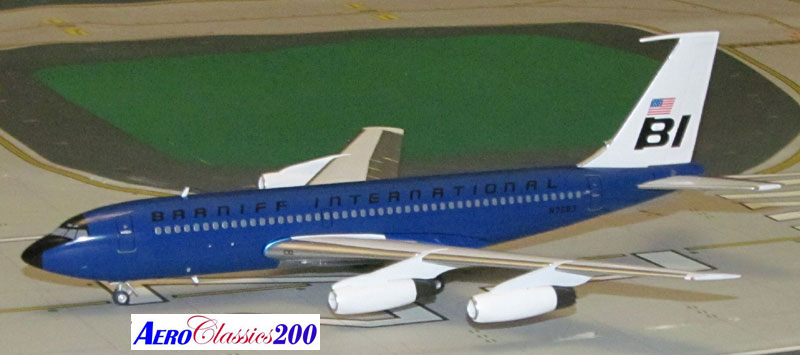 "Braniff International B720 N7083 ""Dark Blue"" (1:200), Western Models Item Number AC2BNF1215E"
