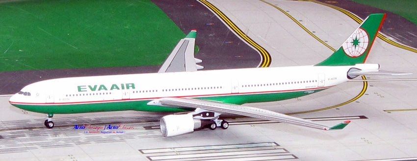 EVA Airways A330-200 Old Colors B-16336 (1:400), AeroClassics Models Item Number ACEVA0616