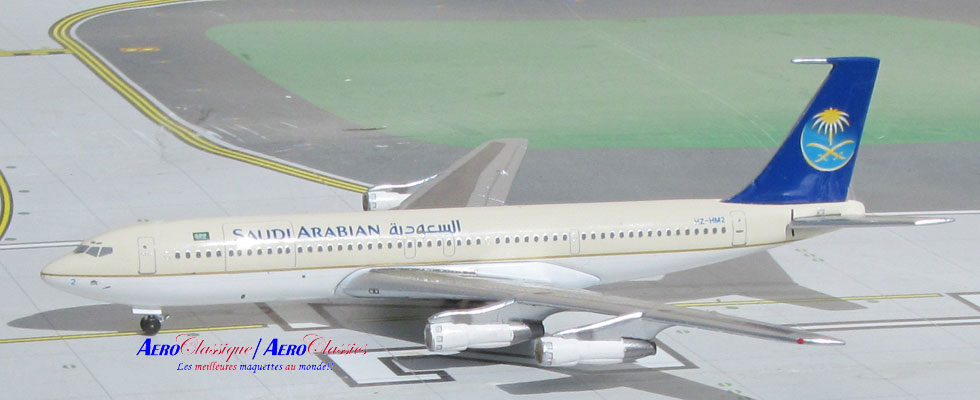Saudi Arabian New Colors B707-320B HZ-1M2 (1:400), AeroClassics Models Item Number ACSVA1115