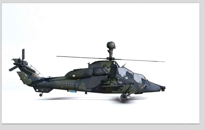 Eurocopter 665 Tiger 74-26, Attack Helicopter Regiment 36, German Army, Fritzlar Airfield, Germany (1:72) NEW TOOL!, Air Force 1 Diecast Item Number AF1-00113