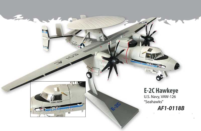 "E-2C Hawkeye US Navy, VAW-126 ""Seahawks"" (1:72), Air Force 1 Diecast Item Number AF1-0118B"