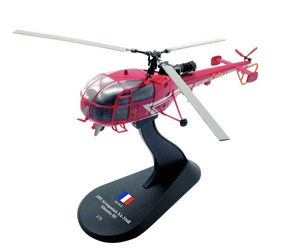 Aerospatiale Alouette III SA-316B, French Civil Security, 2002 (1:72), Amercom Diecast Item Number ACHY29