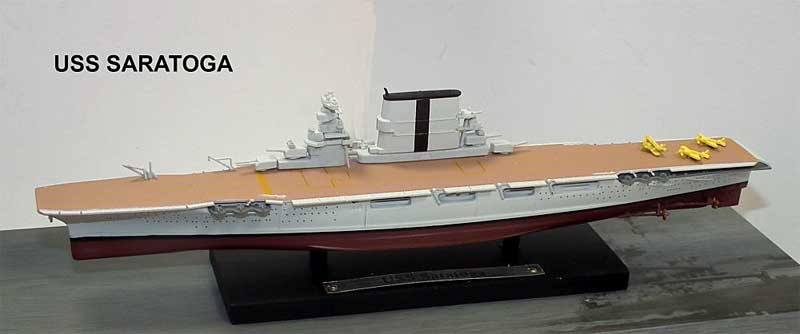 United States Navy aircraft carrier USS Saratoga (CV-3) (1:1250), Atlas Editions, Item Number ATL-7134-130