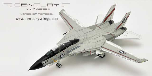 F-14A Tomcat USN VF-41 Black Aces, AJ100, USS Nimitz, 1978, Landing Configuration (1:72), Century Wings Diecast Fighters Item Number CW-001620