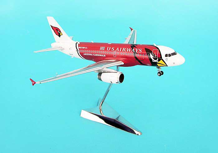"US Airways A319 ""Arizona Cardinals"" (1:200), GeminiJets 200 Diecast Airliners, Item Number G2USA055"