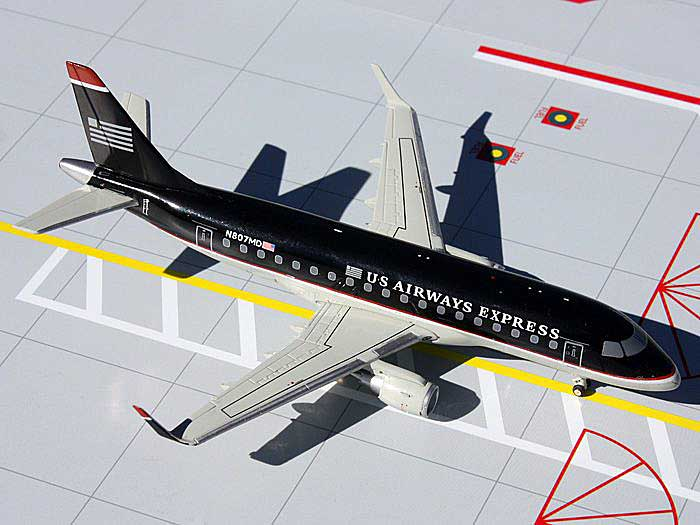 "US Airways Express ERJ-170 ""Dark Blue"" N807MD (1:200) - NEW MOLD, GeminiJets 200 Diecast Airliners, Item Number G2USA336"