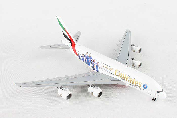 "Emirates A380-800 ""PSG France"" A6-EOT (1:400), GeminiJets 400 Diecast Airliners, Item Number GJUAE1559"