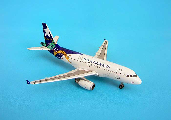 "US Airways Airbus A319 ""Nevada""(1:400), GeminiJets 400 Diecast Airliners, Item Number GJUSA798"