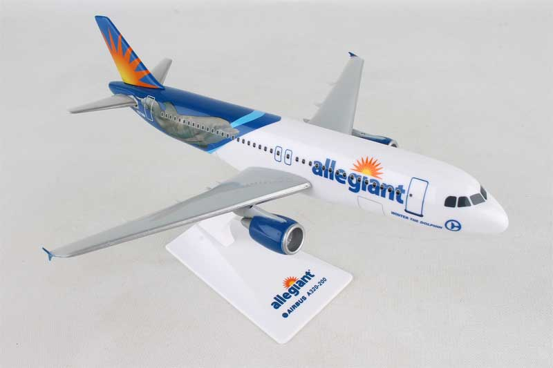 Allegiant A320 DOLPHIN (1:200) by Flight Miniatures Snap-Fit Airliners Item Number: AB-32020H-065