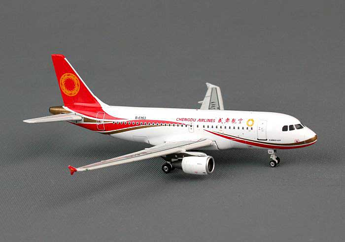 Chengdu Airlines A319 B-6163 ((1:400)), Phoenix (1:400) Scale Diecast Aircraft, Item Number PH4UEA1141