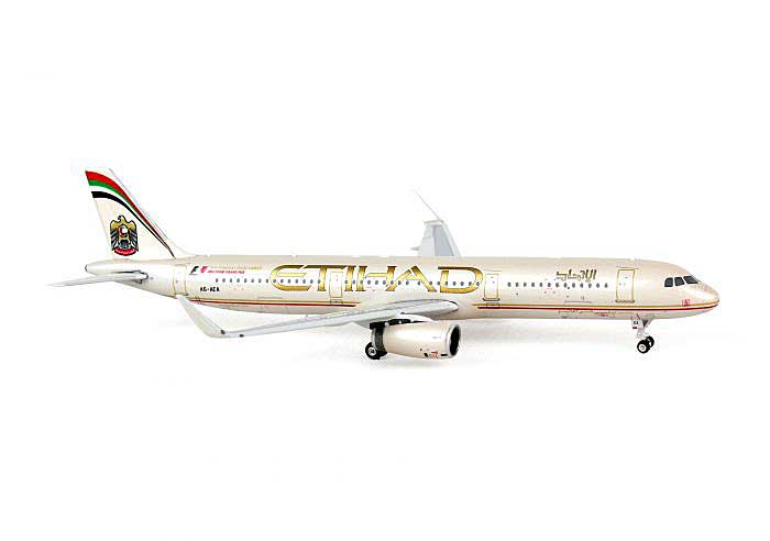 Etihad A321 Sharklets A6-AEA ((1:400)), Phoenix (1:400) Scale Diecast Aircraft, Item Number PH4ETD1166