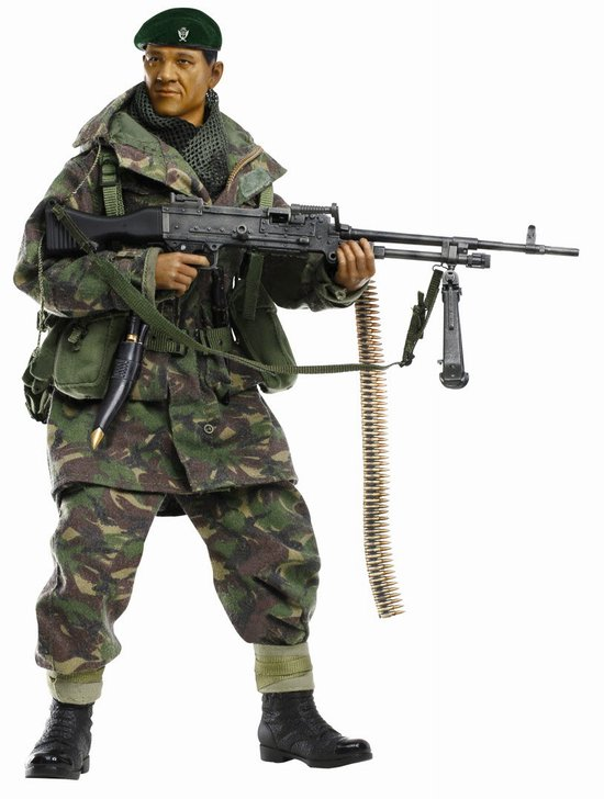 """Dhak Gurung"" (GPMG Gunner) - Gurkha Infantry, 1st Battalion, 7th Duke of Edinburgh's Own Gurkha Rifles, Falklands War 1982 (1:6), Dragon Collectible Figures Item Number DRF70845"
