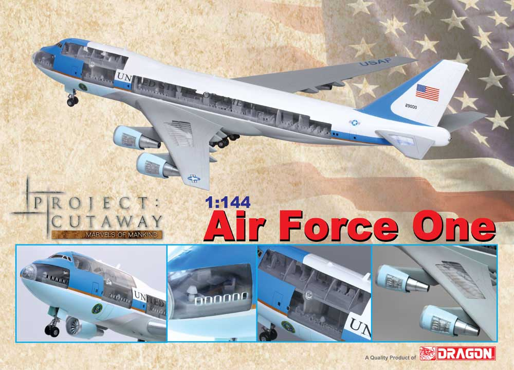 "USAF Air Force One 747-200B ""The Flying White House"" (1:144) ""Cutaway Model"", DragonWings 1:144 scale Diecast Warbirds Item Number DRP47010"