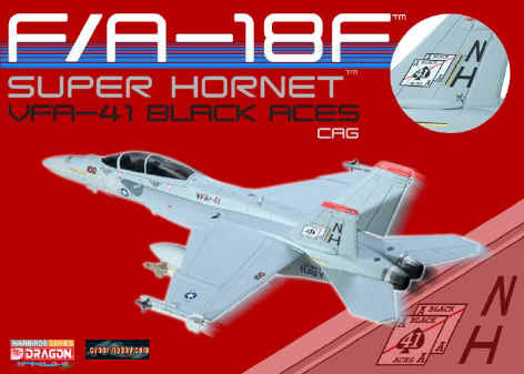 "F/A-18F Super Hornet US Navy VFA-41 ""Black Aces"" NAS Lemoore (1:72), DragonWings 1:72 Scale Diecast Warbirds Item Number DRW50177"