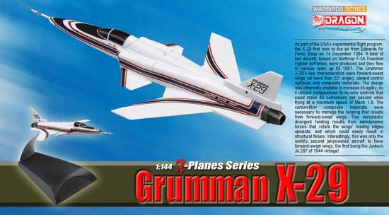 Grumman X-29 (1:144), DragonWings 1:144 scale Diecast Warbirds Item Number DRW51024