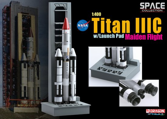 Titan IIIC w/Launch Pad, Maiden Flight (1:400), DragonWings Space Series Item Number DRW56341