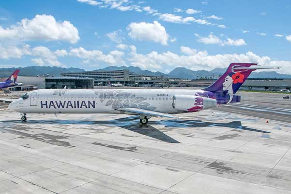 Hawaiian Airlines B717-200 New Livery N488HA (1:400), GeminiJets 400 Diecast Airliners Item Number GJHAL1651
