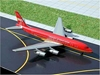 "Braniff DC-8-50 ""Flying Colors"" (Red) (1:400) - in SkyJets metal tin, GeminiJets 400 Diecast Airliners Item Number GJBNF287S"