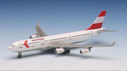 Austrian Airlines A340-211 (1:500), Herpa 1:500 Scale Diecast Airliners Item Number HE507318