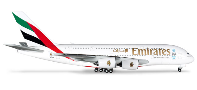 Emirates A380-800 (1:500) REG#A6-EEB Expo 2020, Herpa 1:500 Scale Diecast Airliners Item Number HE514521-002