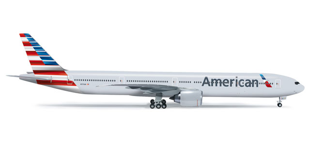 American 777-300ER (1:200) N717AN, Herpa 1:200 Scale Diecast Airliners Item Number HE555883
