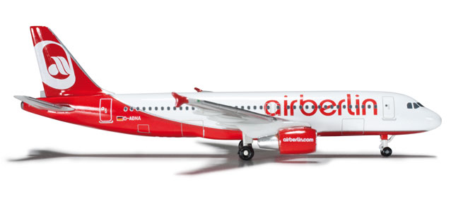 Air Berlin A320 (1:500) D-ABNA, Herpa 1:500 Scale Diecast Airliners Item Number HE508254-001