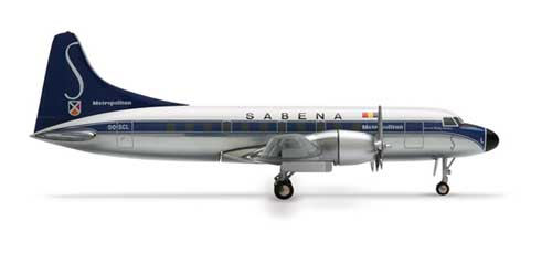 Sabena Cv-440 (1:500), Herpa 1:500 Scale Diecast Airliners Item Number HE515832