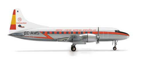 Iberia CV-440 (1:500), Herpa 1:500 Scale Diecast Airliners Item Number HE518307