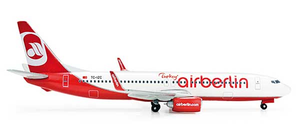 Air Berlin Turkey 737-800 (1:500), Herpa 1:500 Scale Diecast Airliners Item Number HE523028