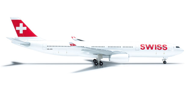 Swiss A330-300 (1:500) Reg# HB-JHK, Herpa 1:500 Scale Diecast Airliners Item Number HE523134-002