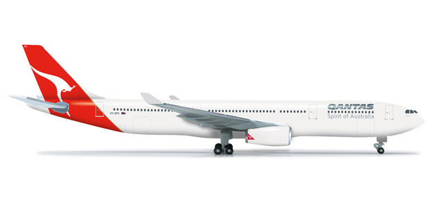 Qantas A330-300 (1:500), Herpa 1:500 Scale Diecast Airliners Item Number HE523530