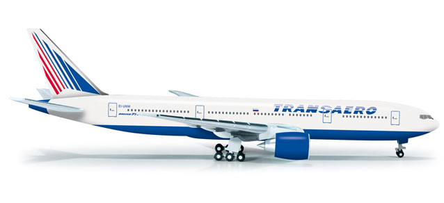 Transaero 777-200 (1:500), Herpa 1:500 Scale Diecast Airliners Item Number HE523561