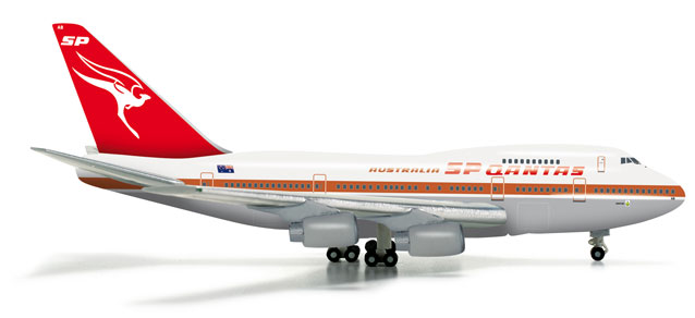 Qantas 747SP (1:500) Old Livery, Herpa 1:500 Scale Diecast Airliners Item Number HE523714