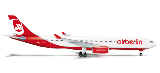 Air Berlin A330-300 (1:500), Herpa 1:500 Scale Diecast Airliners Item Number HE524056