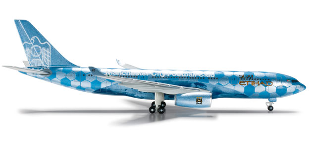 Etihad A330-200 (1:500) Manchester City Football Club, Herpa 1:500 Scale Diecast Airliners Item Number HE524094