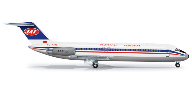 JAT DC-9-30 (1:500), Herpa 1:500 Scale Diecast Airliners Item Number HE524742