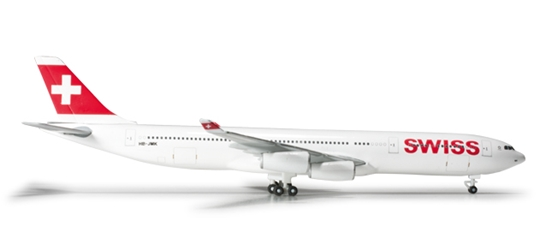 Swiss International Air Lines A340-300  (1:500), Herpa 1:500 Scale Diecast Airliners Item Number HE524971