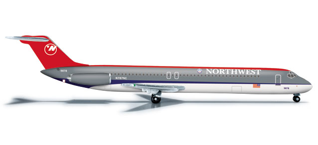 Northwest DC-9-50 (1:500), Herpa 1:500 Scale Diecast Airliners Item Number HE526333
