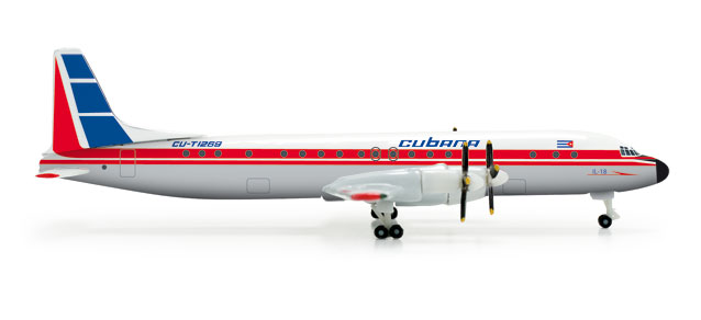 Cubana IL-18 (1:500), Herpa 1:500 Scale Diecast Airliners Item Number HE526388