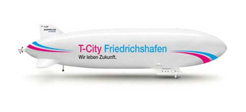 T-CITY Zeppelin Nt (1:200), Herpa 1:200 Scale Diecast Airliners Item Number HE554084