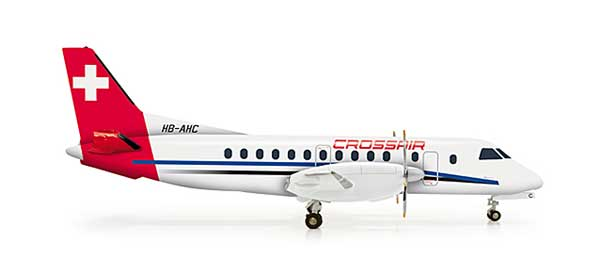 Crossair SF-340 (1:200), Herpa 1:200 Scale Diecast Airliners Item Number HE555081