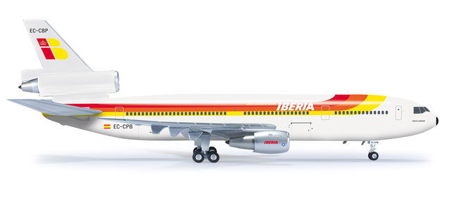 Iberia DC-10-30 (1:200), Herpa 1:200 Scale Diecast Airliners Item Number HE555203