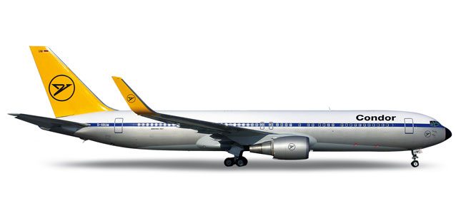 Condor 767-300 (1:200) Retrojet, Herpa 1:200 Scale Diecast Airliners Item Number HE555760