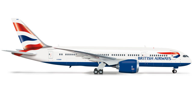 British Airways 787-8 (1:200), Herpa 1:200 Scale Diecast Airliners Item Number HE556224