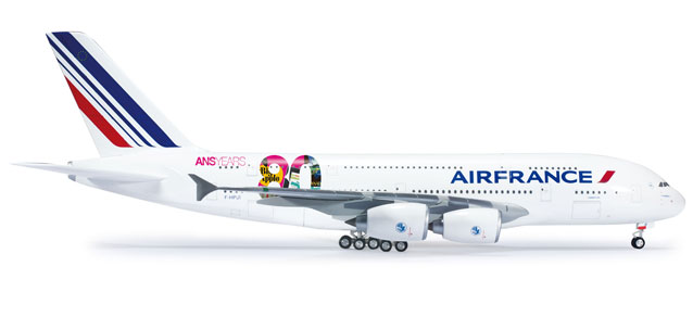 Air France A380 (1:200) 80TH Anniversary, Herpa 1:200 Scale Diecast Airliners Item Number HE556248