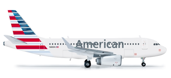 American Airlines A319 (1:200), Herpa 1:200 Scale Diecast Airliners Item Number HE556330
